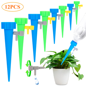 12Pcs/lot Automatic Drip Irrigation Tool Spikes Flower Plant Garden Supplies Useful Self-Watering Device Adjustable Water