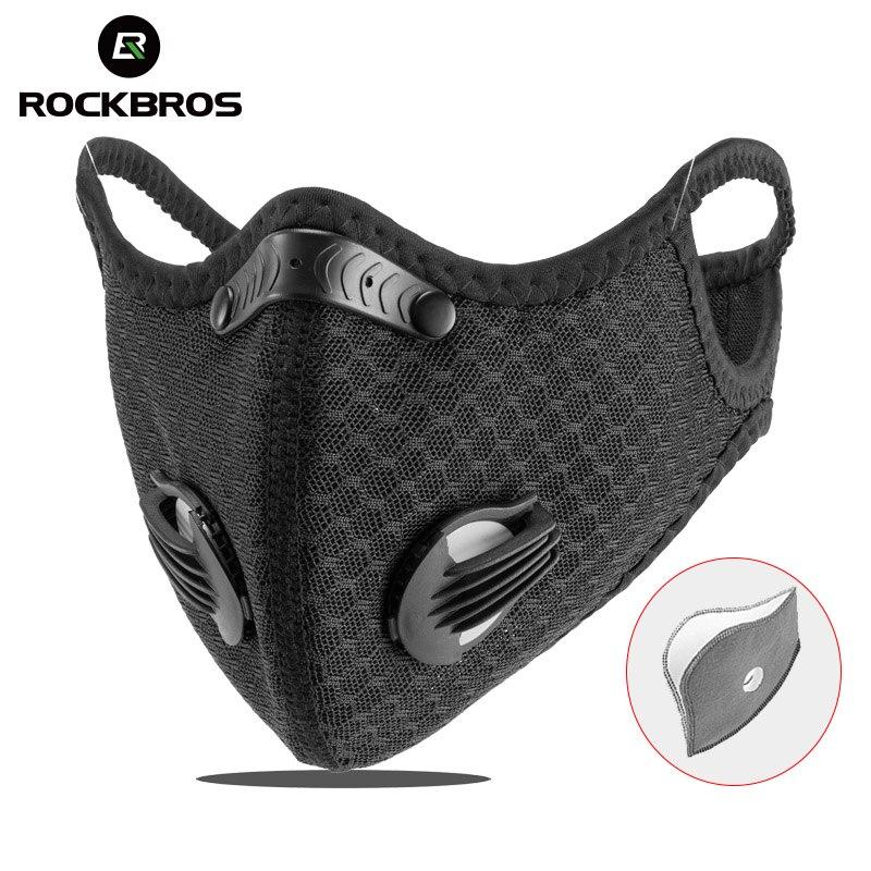 ROCKBROS велосипедная маска PM2.5 маска фильтр Пылезащитная маска Активированный уголь с фильтром анти-загрязнение велосипед MTB велосипед маска ...