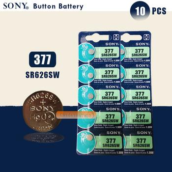10 sztuk nowy SONY 100 oryginalny 377 SR626SW 626 SR626 V377 AG4 zegarek bateria guzikowa ogniwo monety wykonane w japonii tanie i dobre opinie 24mAh 1 55V 6 8x2 6mm Tlenek srebra SR626SW 377