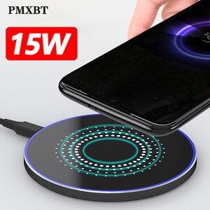 Image 1 - Chargeur USB sans fil rapide 15w pour Samsung Galaxy S10 Note 10 9 S20 Qi 10W chargeur inductif pour iPhone 11 pro XS Max X XR 8