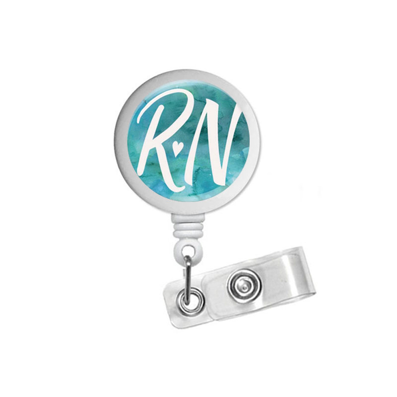 Badge Reel Registered Nurse Retractable Badge Holder RN Badge Clip Id Badge Pull Nursing Student Staff Gift Stethoscope ID Tag