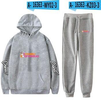 Nes Charli Damelio Merch Hoodie Womens Tracksuit Sweatpants Suit Charlie Damelio Shirt Trousers Sets Unisex Clothes Print Casual 13