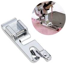Sewing Machine 3MM Foot Presser Rolled Hem Feet Selvage Crimping Presser Household Stainless Steel Sewing Machine Accessories E rolled hem drawstring plaid pants