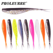 5PCS or 10PCS Fork Tail Worms Soft Lure Silicone Bait Pva Jig Wobblers Goods For Bass Carp Artificial Swimbait Fishing Tackle