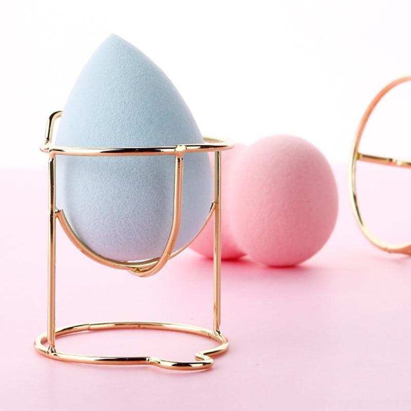 1 Pcs Cute Cat Beauty Egg Bracket  Dryer Cosmetic Makeup Sponge Gourd Powder Puff Rack  Organizer Box Shelf Holder Storage Tools