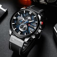 CURREN גדול חיוג גברים של שעון 2019 הכרונוגרף ספורט גברים שעונים עיצוב יצירתי עם תאריכים זכר שעוני יד Mens נירוסטה