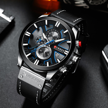 นาฬิกา CURREN Big Dial นาฬิกาผู้ชาย 2019 Chronograph SPORT นาฬิกาผู้ชายออกแบบสร้างสรรค์ด้วยวันที่ชายนาฬิกาข้อมือสแตนเลส