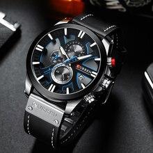 CURREN Große Zifferblatt herren Uhr 2019 Chronograph Sport Männer Uhren Design Kreative Mit Termine Männlich Armbanduhr Herren Edelstahl