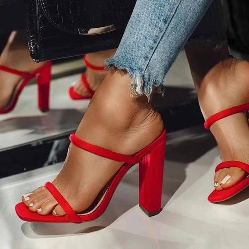 2021 Summer New Women Shoe Sexy High Heels Open Toe Sandals Women Casual Sandals Fashion Comfortable Women Sandals Zapatos Mujer