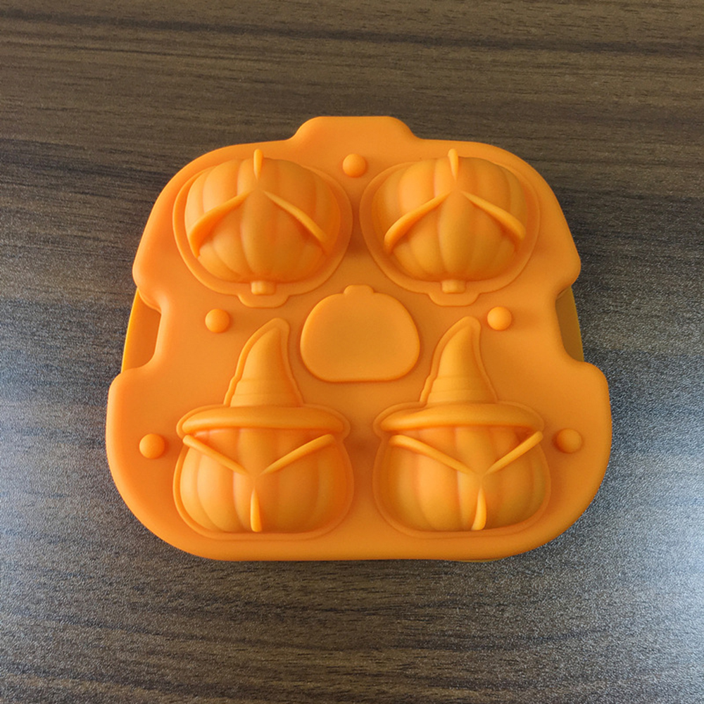 Halloween Ice Cube Silicone Molds Bar Cool 3D Chocolate Sugar Candy Jelly Moulds Cupcake Party Fondant Cake Decorating Tools New in Cake Molds from Home Garden