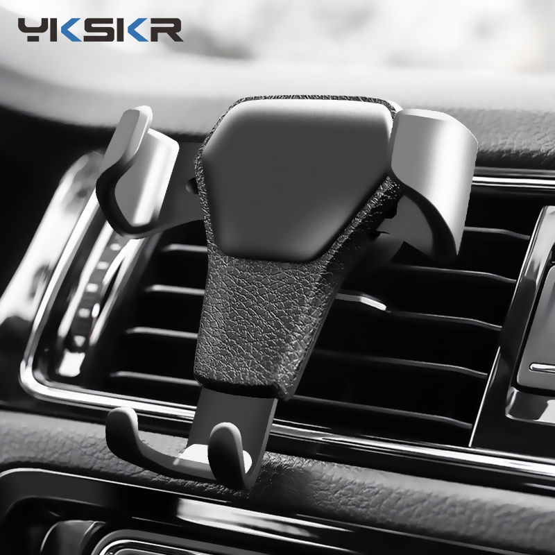 Car Phone Holder For Phone In The Car Air Vent Mount Car Holder Stand For IPhone 7 8 XSMax Universal Gravity Mobile Phone Holder