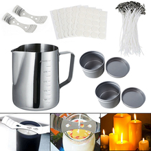 Candles Craft Tool Set Pouring Pot Wicks Wax Kit Gift Candle Making Kit DIY Candles Craft Tool Set with Candle Make Pouring high qualit 1000g pack 100% pure soy wax for candle making diy candle material flake candle wax smokeless waxed diy candles