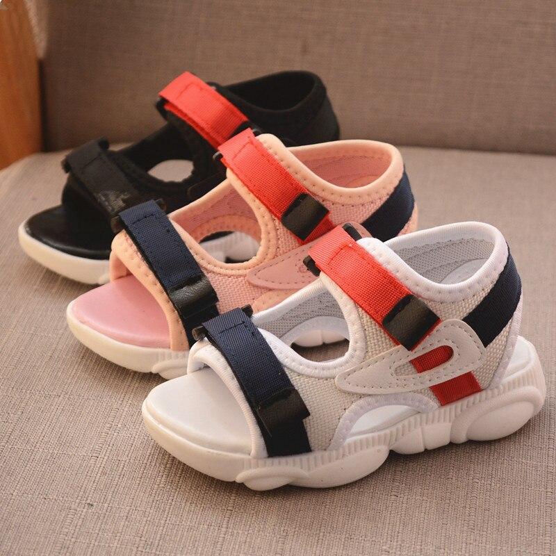 Baby Comfortable Sandals 2020 Summer New Boy Girls Beach Shoes Kids Sandals Children Fashion Sport Sandals Size 21-30 D137