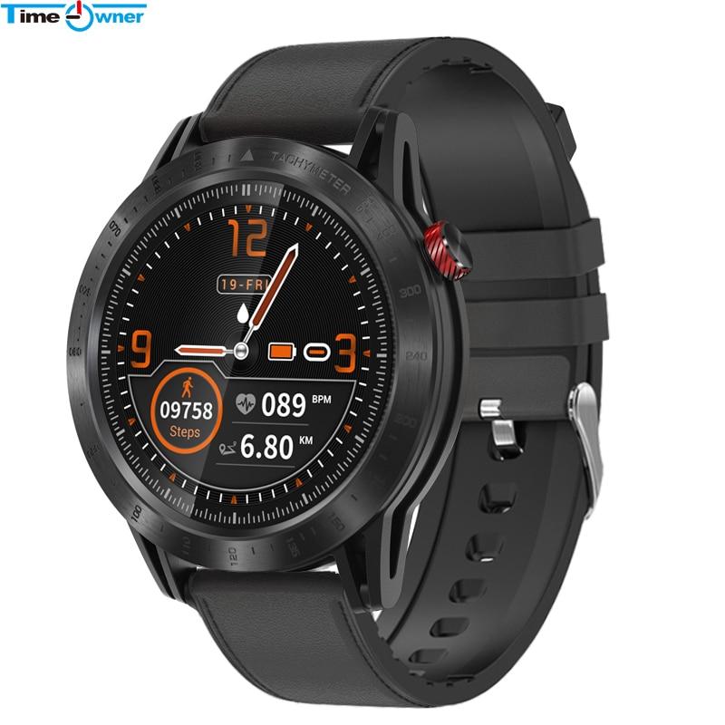Montre cardiaque étanche, écran rond CROSS Smart Watch IP68, moniteur de fréquence cardiaque étanche, Tracker de Fitness sportif, Smartwatch