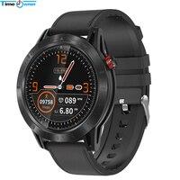 시간 소유자 크로스 스마트 시계 전체 터치 라운드 스크린 ip68 방수 심박수 모니터 멀티 스포츠 피트니스 트래커 smartwatch|스마트 시계|가전제품 -