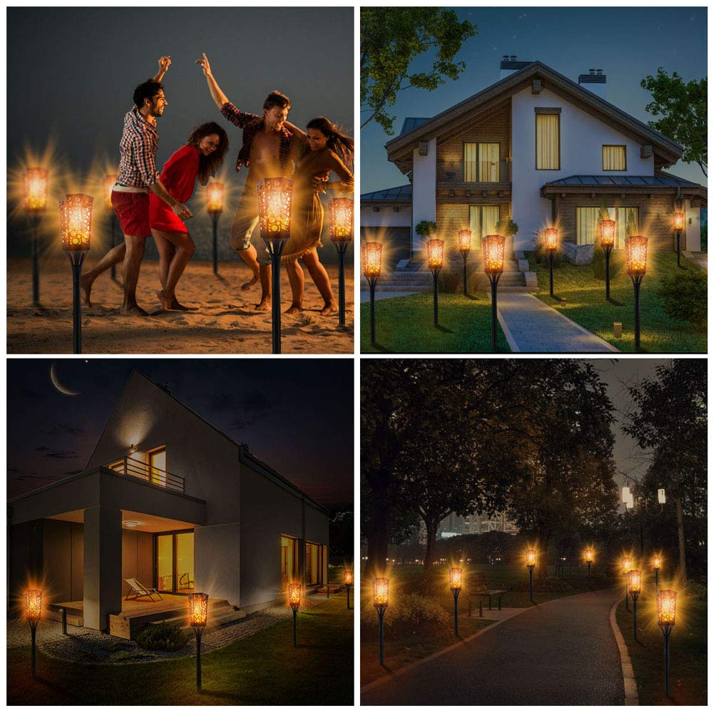 33/51/72LED impermeable llama intermitente linterna Solar lámpara de jardín decoración de paisajes de exterior jardín Luz de césped - 6