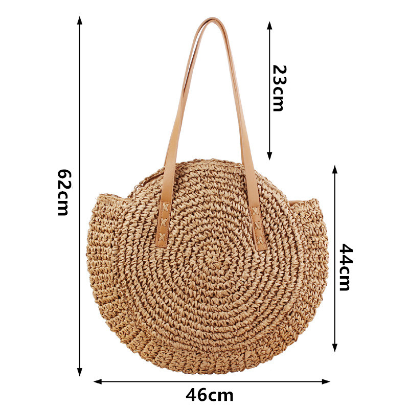 Round Straw Tote Bags