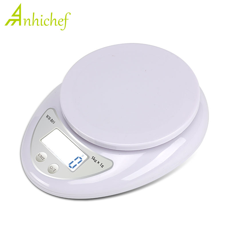 Digital Scale 5kg/1g 1kg/0.1g Portable LED Electronic Scales Postal Food Measuring Weight Kitchen LED Electronic Scales