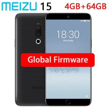 "Global Rom Meizu 15 4GB RAM 64GB ROM smart Phone Dual Camera  20MP Snapdragon 660 Octa Core  5.46"" 1920x1080P Screen"