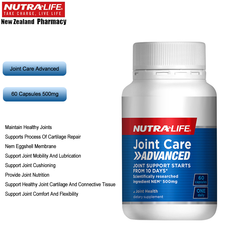 Nutra Life Joint Care ADVANCED Formula NEM Eggshell Membrane Support Healthy Joint Mobility Comfort Flexibility Cartilage Repair