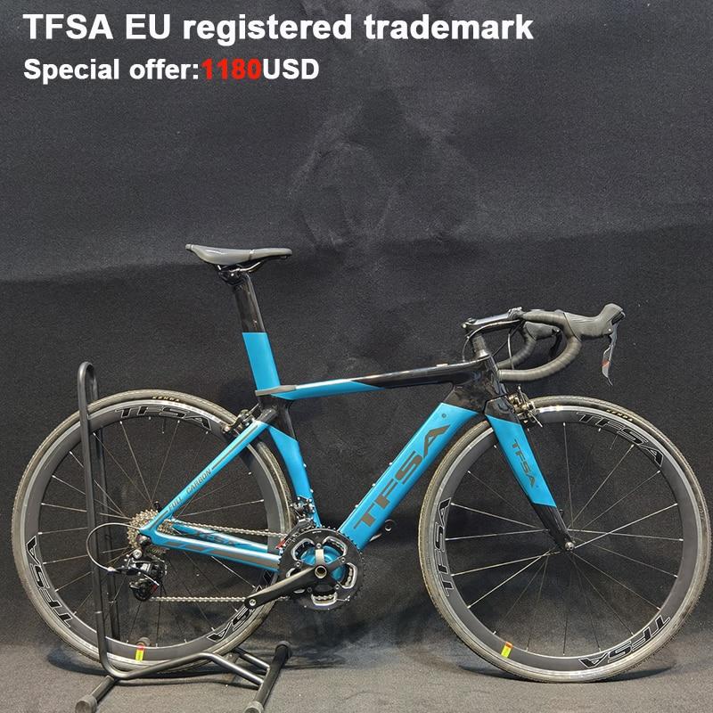 Полный велосипед T800 Carbon CyclingTFSA дорожный велосипед 700C колесо дорожный велосипед система переключения рамы велосипед углеродная вилка Хамел...