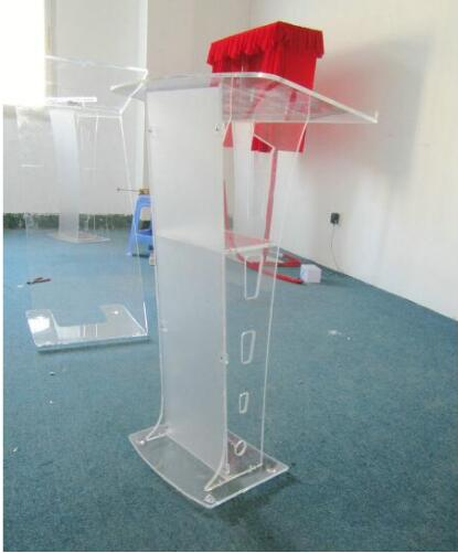 Free Shipping Logo Custom Acrylic Church Pulpit /innovative Lectern /Shatterproof Podium For Church Logo Customize