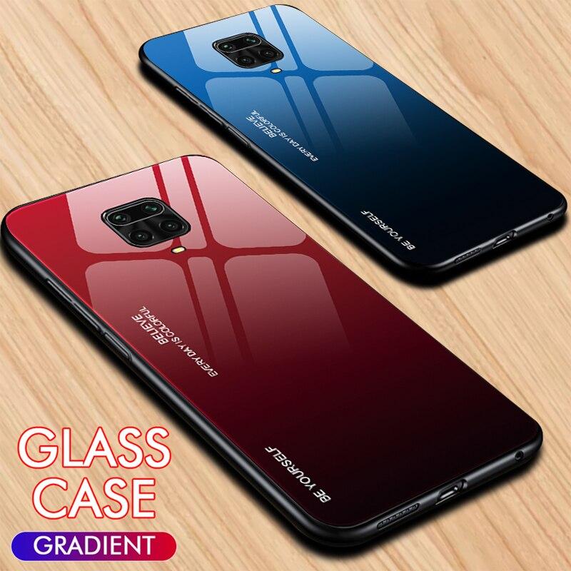 Gradient Tempered Glass Case For Xiaomi Redmi Note 8 7 8T 9S 9 Pro Max Protective Case Redmi Note 9 9Pro 9S 8T 8 Pro Cover Funda