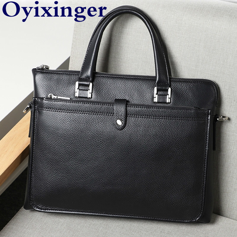 Men's Computer Notebook Bag Briefcases Genuine Leather Men Bags Business Man Laptop Bags Male Briefcase Handbags For Macbook Air