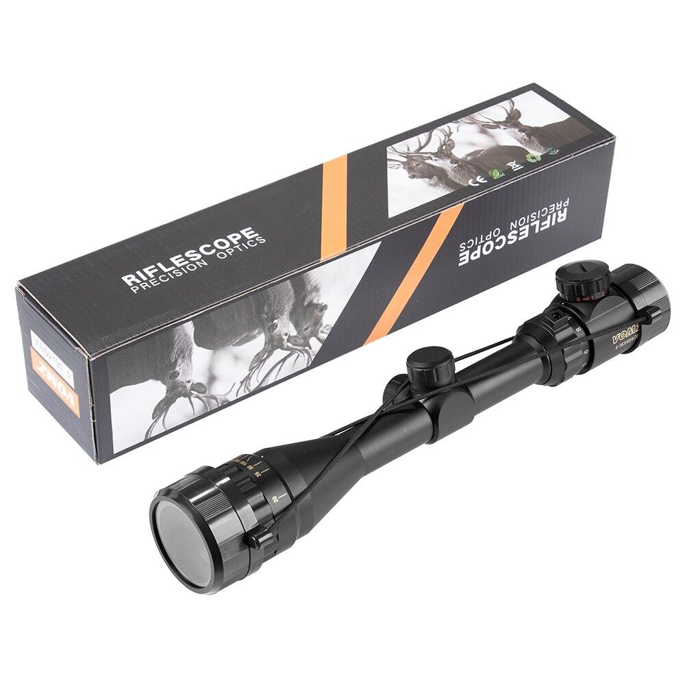 ponto iluminado mira rifle scope sniper engrenagem scope airsoft rifle 05