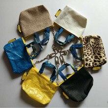 6 цветов, женский модный кошелек мини-бумажник для монет, чехол для ключей, держатель для карт, небольшой пакет на застежке, синий цвет, 10,5x7,5 см