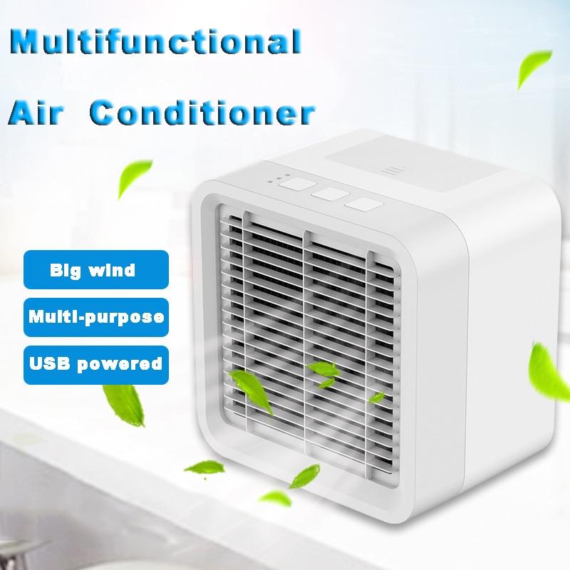 New Home Mini Air Cooler Portable Desktop Air Conditioner Fan Multifunctional Humidifier Air Purifier Triple