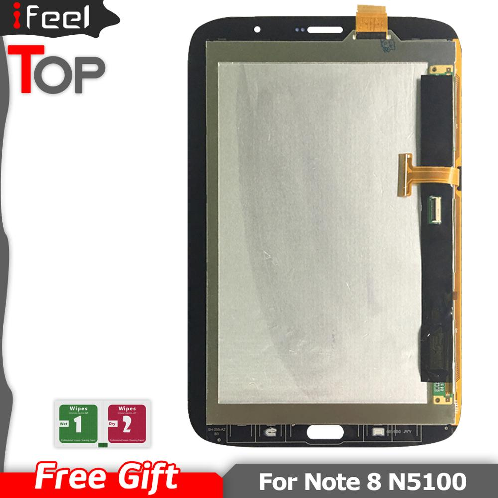 <font><b>8</b></font> inches LCDS For <font><b>Samsung</b></font> Galaxy <font><b>Note</b></font> <font><b>8</b></font> N5100 GT-N5100 <font><b>LCD</b></font> <font><b>Display</b></font> + Touch Screen Digitizer Assembly Black / White image