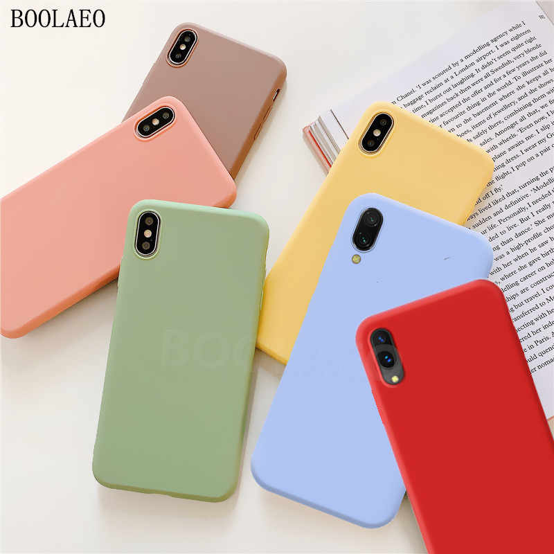 Luxe Zachte Matte Cases voor iPhone 8 6 6s 7 plus X XR XS 11 PRO MAX telefoon Case candy Fundas TPU Siliconen Back Cover Capa Coque