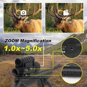 Image 4 - Bestguarder WG 50 Plus Night Vision Telescope with Wifi Function IR Monocular Wildlife 6x50mm Hunting Infrared 850NM HD Camera