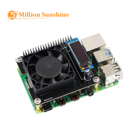 Raspberry Pi 4 Intelligente Steuerung Fan Geschwindigkeit Raspberry Pi 4 Temperatur Control LCD Eis Fan Expansion Board RPI128