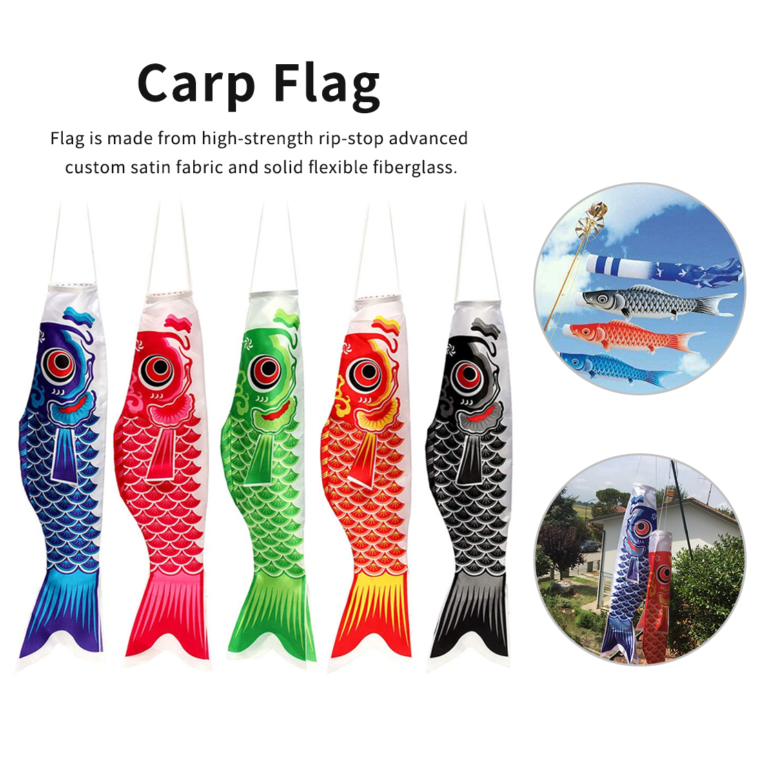 Hot Wind Sock Flag Windsock Carp Colorful Japanese Style Mini Gifts Fish Wind Streamer Home Party Decorations