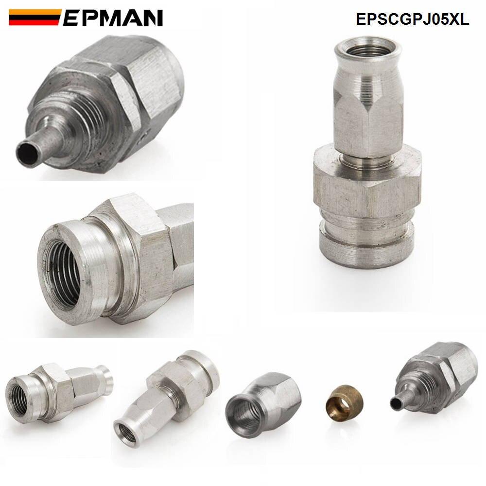 Epman 1 pc an3 de aço inoxidável para um-3 em linha reta freio giratório mangueira termina montagem do carro epscgpj-5