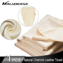 Toalla de lavado de coches Natural gamuza detalles de cuero de trapo para coches casa toalla para limpieza de coche absorbente rápido lavar en seco de tela elástica