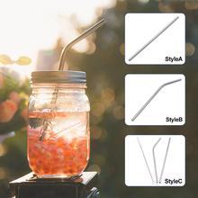 Нержавеющая сталь многоразовые прямые локоть напитков питьевой соломинки бар посуда теплоизоляция гладкая не повредить рот