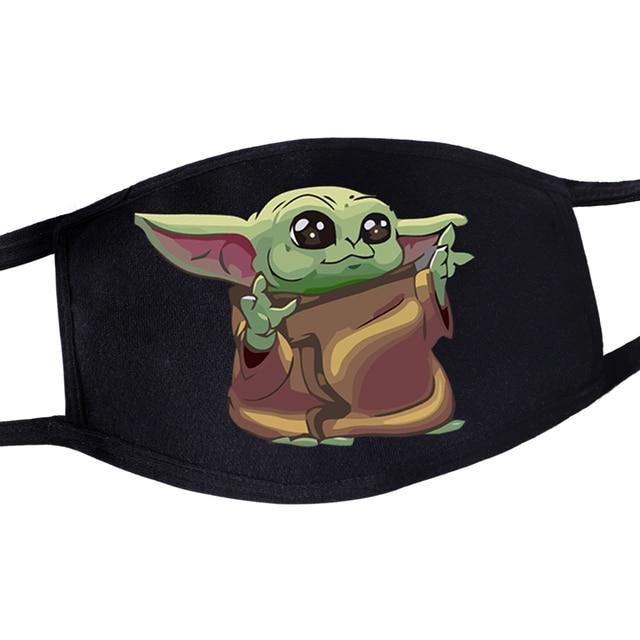 2020 Hot Mandalorian Anti Dust Masker Adult Womens Mens Kids Baby Yoda Face Mask Masque Star Wars Kawaii Reusable Mouth Masks