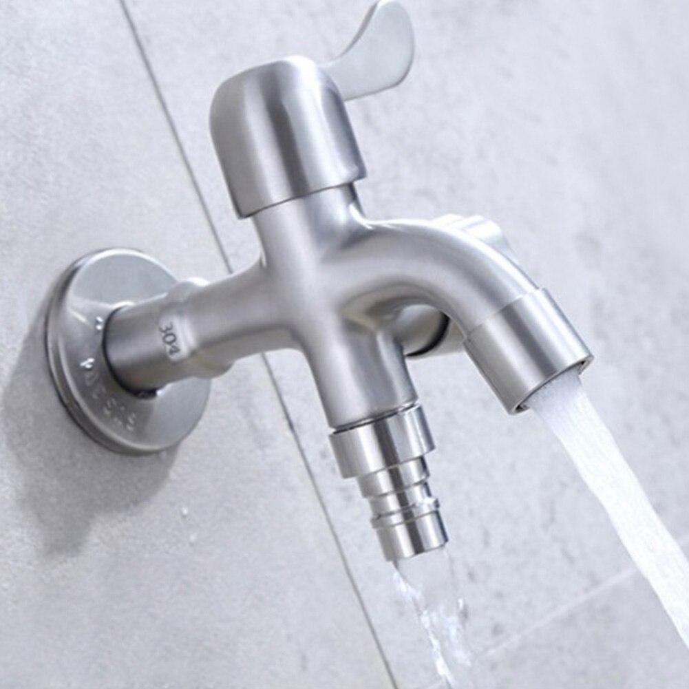 Смеситель для воды, кран с одной ручкой, стиральная машина, раковина для ванной, кухонная швабра, бассейн, домашний, нержавеющая сталь