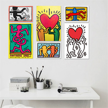 Keith Haring Abstract Painting Posters And Prints Decorative Paintings Wall Art Canvas For Living Room Home Decor Unframed human organs anatomy chart posters and prints canvas art decorative wall pictures for living room home decor unframed painting