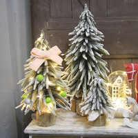 2019 navidad Artificial mini Xams árbol de mesa ventana de exhibición restaurante recepción escritorio Decoración Para tienda pequeño arbol de navidad