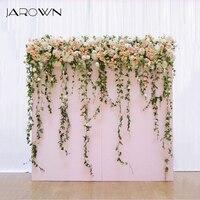 JAROWN Artificial Rose Flower Row Floral Arch Decor Wedding Main Table Decoration Wedding Background Wall Props Sztuczne Kwiaty