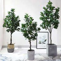 Watercress Tree Artificial Plant Potted Plant Watercress Green Bonsai Large Living Room Floor Green Vegetation Tree Decoration P|  -