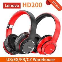 لينوفو HD200 طوي فوق الأذن سماعة بلوتوث 5.0 سماعات لاسلكية الرياضة الموسيقى سماعة 3.5 مللي متر AUX في مشغل MP3 مع هيئة التصنيع العسكري