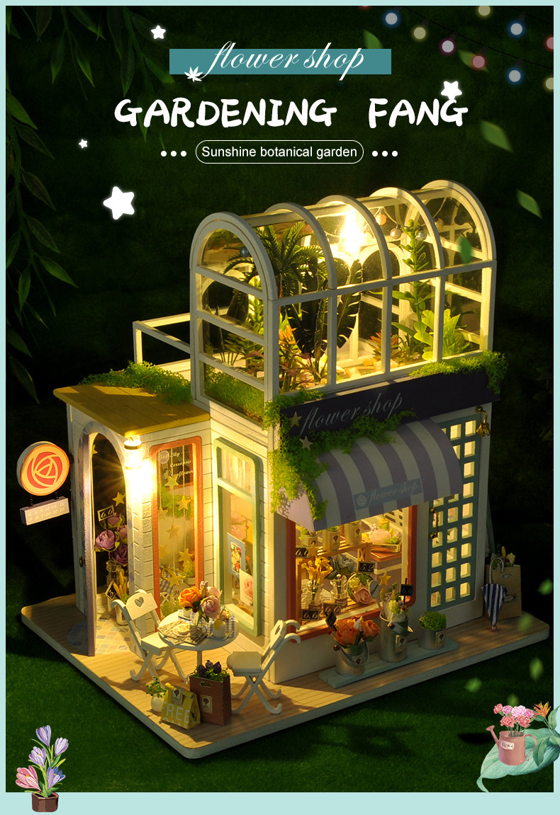 Gardening Fang DIY Miniature Happy Flower House