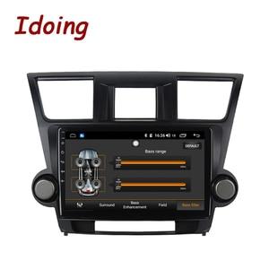 "Image 4 - Idoing 10.2 ""4G + 64G araba radyo multimedya Android oyuncu navigasyon gps Toyota Highlander için 2 XU40 2007 2014 NO 2 din DVD"