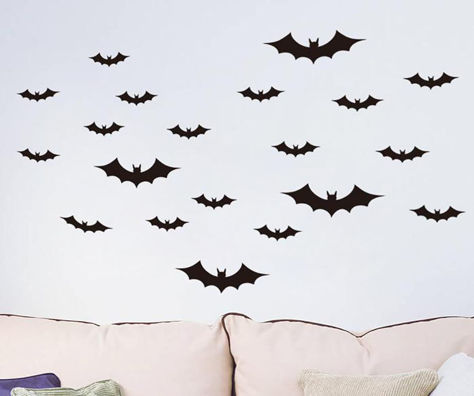 H01b133ffc1e241819d0f9f2a1af34165F - 12pcs/set Halloween Decoration 3D Bat Decoration Wall Sticker DIY Room Wall Decals Home Party Decor for Halloween Wall Stickers