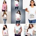 Загружаемые Женские топы с коротким рукавом для беременных  футболки для беременных  забавная Одежда для беременных  Распродажа футболок  П...